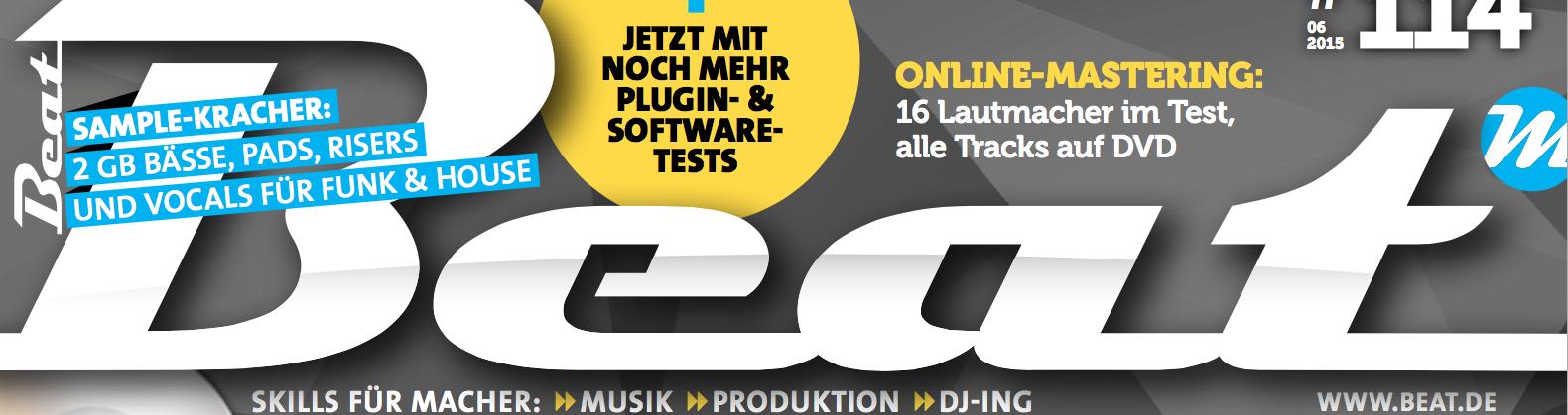 """BEAT MAGAZIN – Online Mastering Studios im Vergleich: audioSenses erhält Prädikat """"Empfehlung der Redaktion"""""""